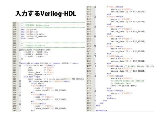 入力するVerilog-HDL 10