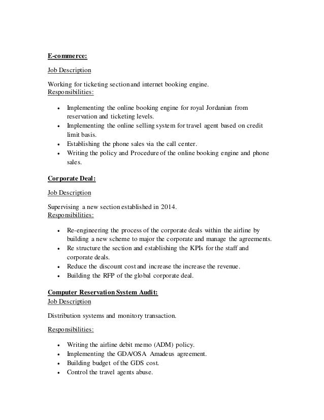 travel booking agent job description