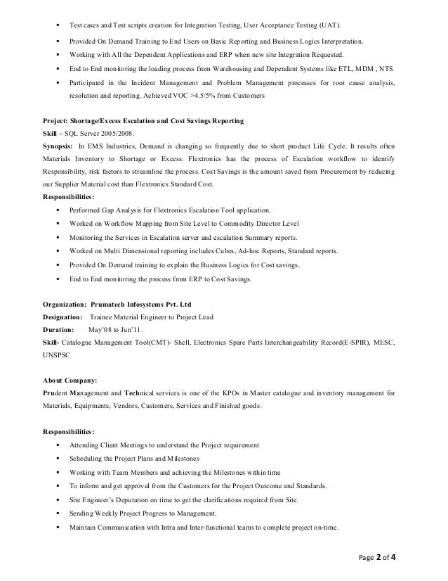 user acceptance testing resume resume ideas