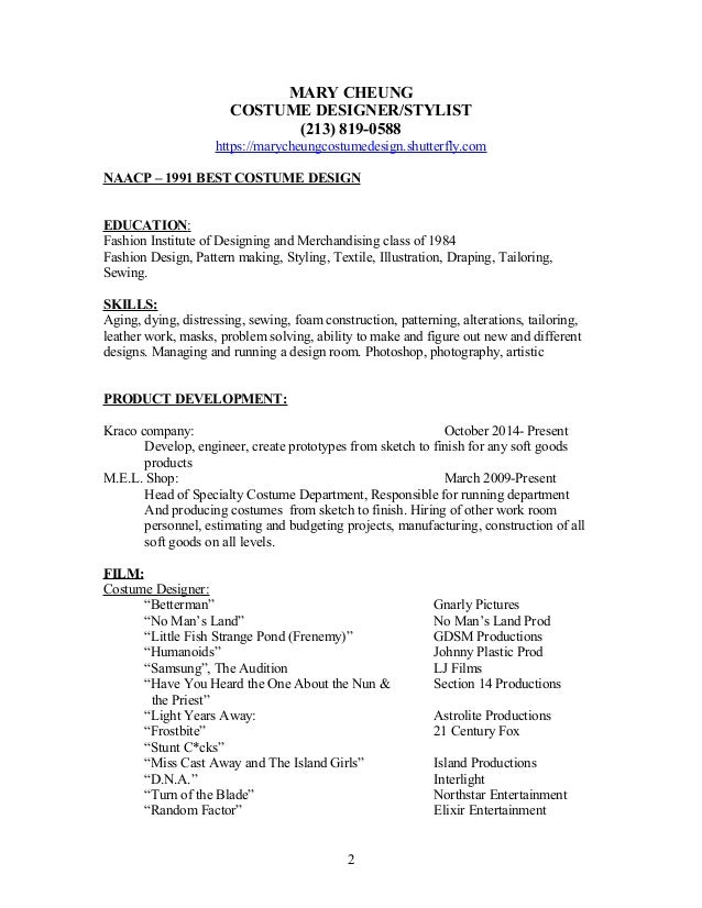 MARY CHEUNG designer resume w-references and cover letter