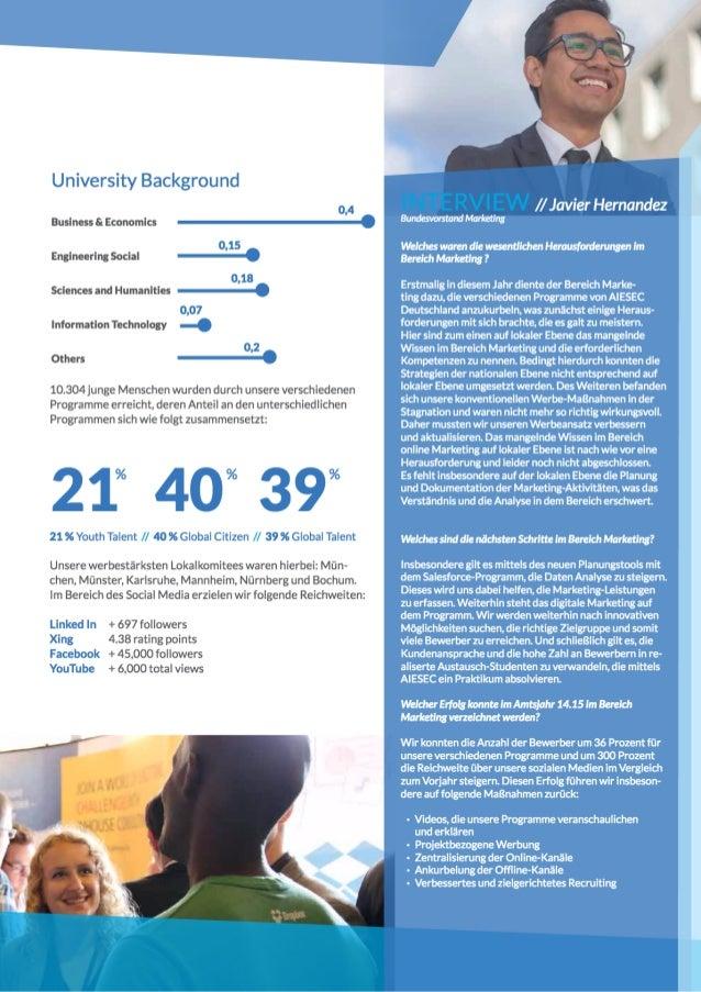 AIESEC Deutschland Jahresbericht 1415