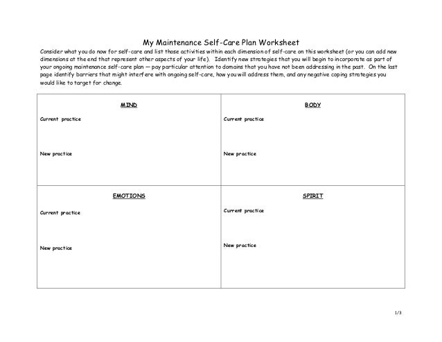 Worksheet Self Care Worksheets collection of self care plan worksheet bloggakuten