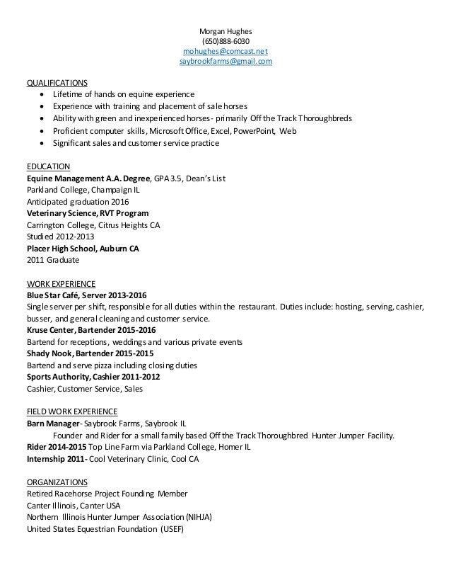Ag Business Resume