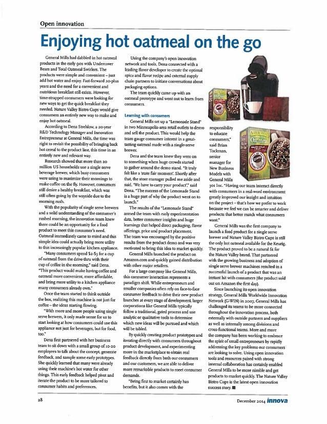 Open Innovation Example - Innova Dec 2014 pg 28