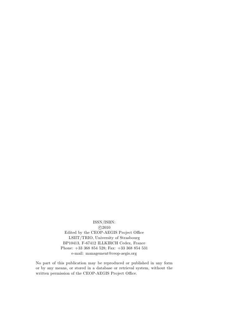 CEOP AEGIS Report De 51 Table Of Content1 Introduction