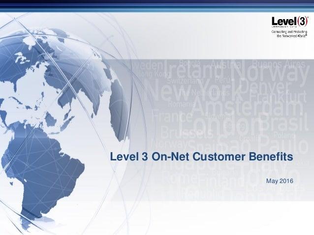 Level 3 ON NET Fiber Advantages