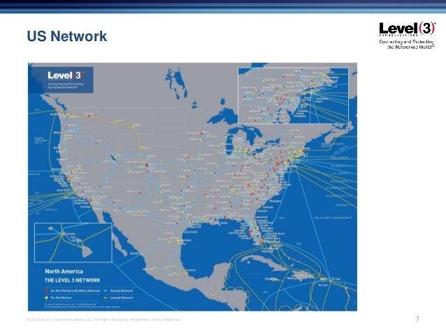 Level 3 On Net Fiber Advantages - Level-3-us-fiber-map