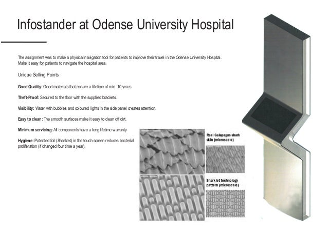 Infostander at Odense University Hospital The assignment was to make a physical navigation tool for patients to improve th...