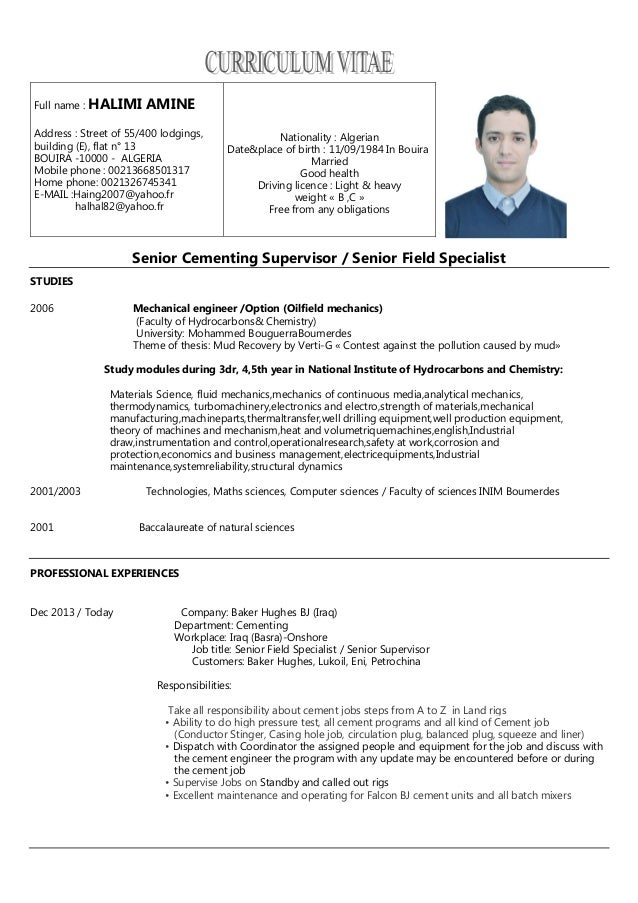 field resume eliolera