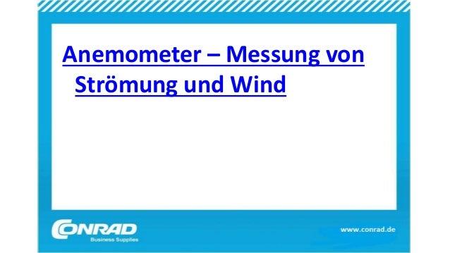 Anemometer – Messung von Strömung und Wind