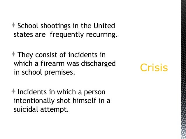 An introduction to the issue of school shootings in the united states