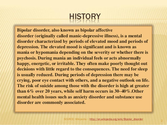 bipolar disorder and the creative genius essay Creative individuals have a disproportionately high rate of mental illness, especially bipolar disorder, swedish researchers say.