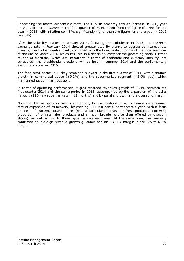 DeA Capital - Interim Management Report to 31 March 2014