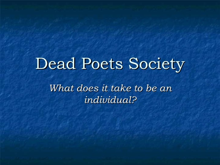 dead poets society personality theories