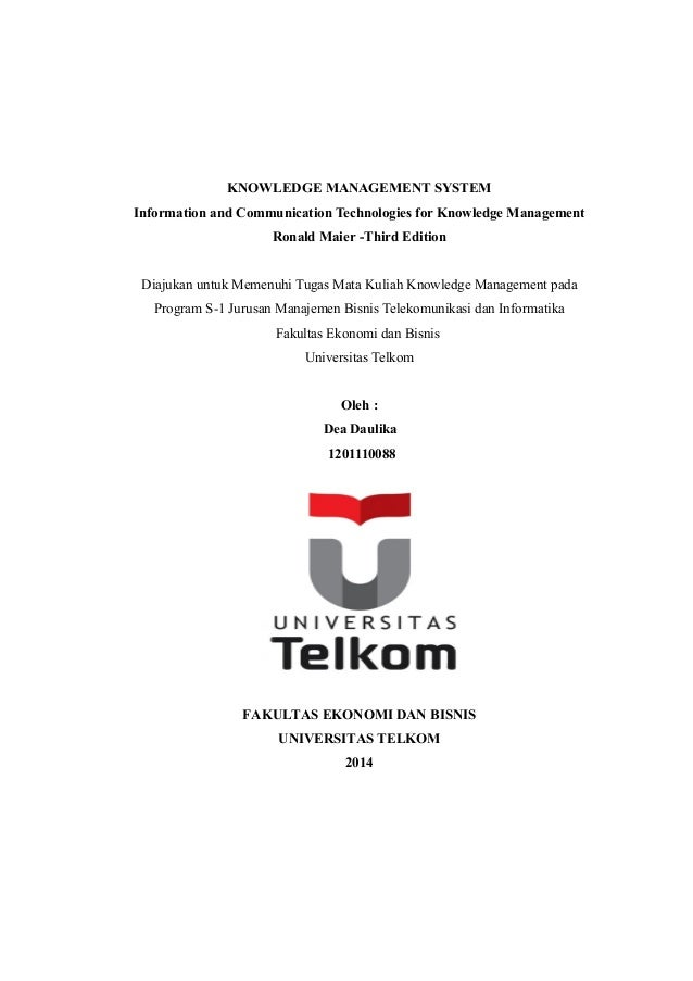 KNOWLEDGE MANAGEMENT SYSTEM  Information and Communication Technologies for Knowledge Management  Ronald Maier -Third Edit...