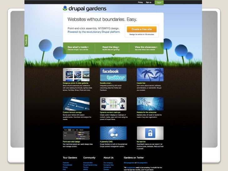 Dead EasyDrupalHow to build a 21st-century website in    minutes on Drupal Gardens