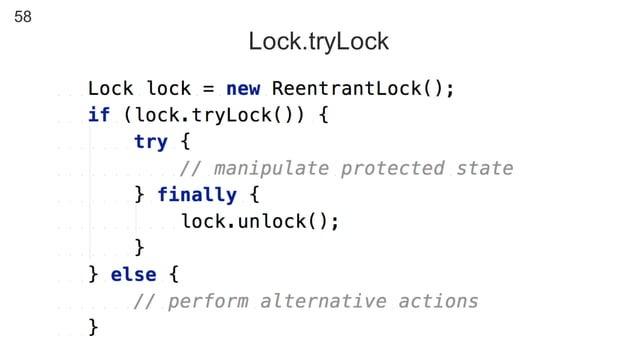 58 Lock.tryLock