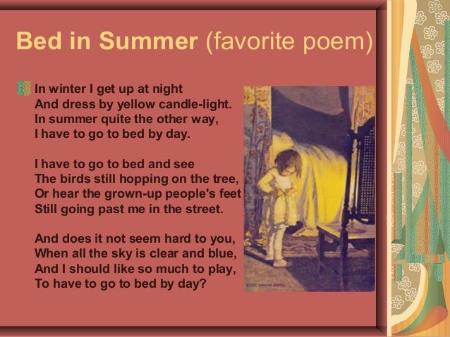 In winter i get up at night and dress by yellow candle light