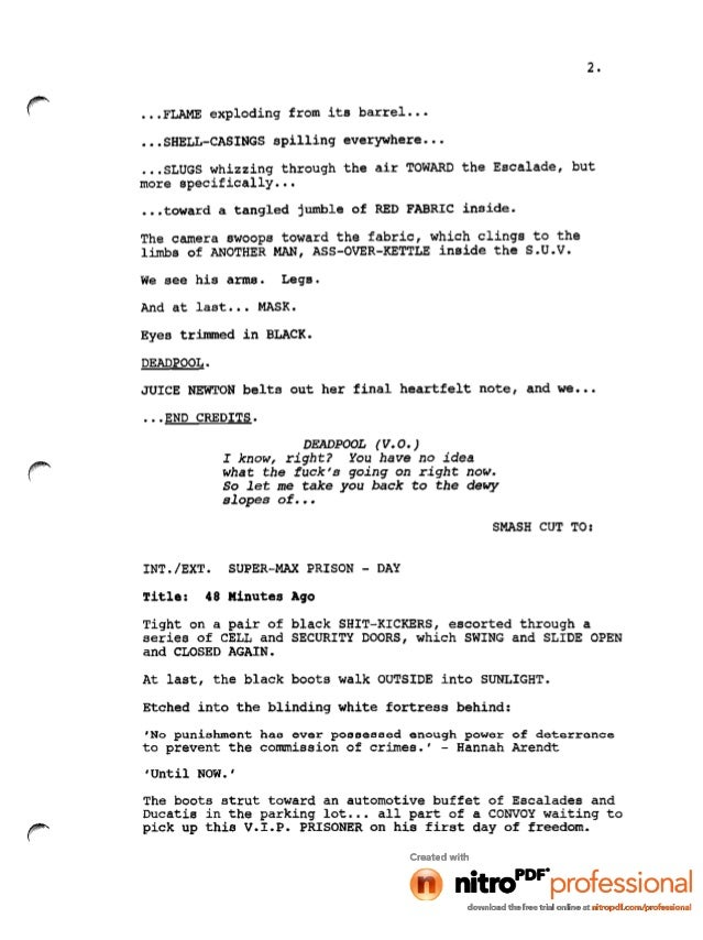 Deadpool movie leaked script (1)