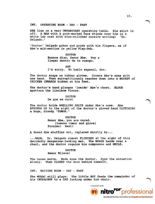 Deadpool Movie Leaked Script 1