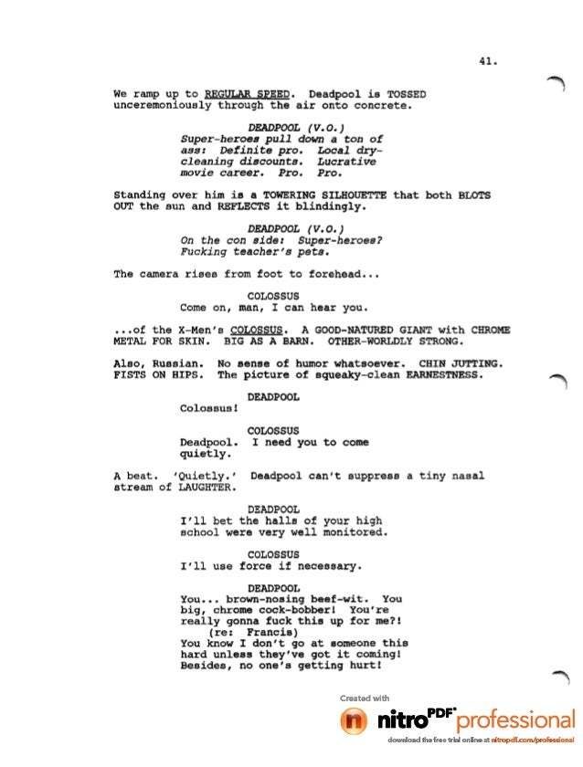 the notebook movie script pdf