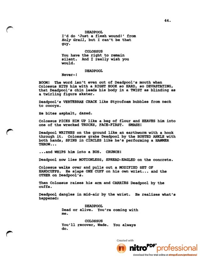 how to write a silent film screenplay