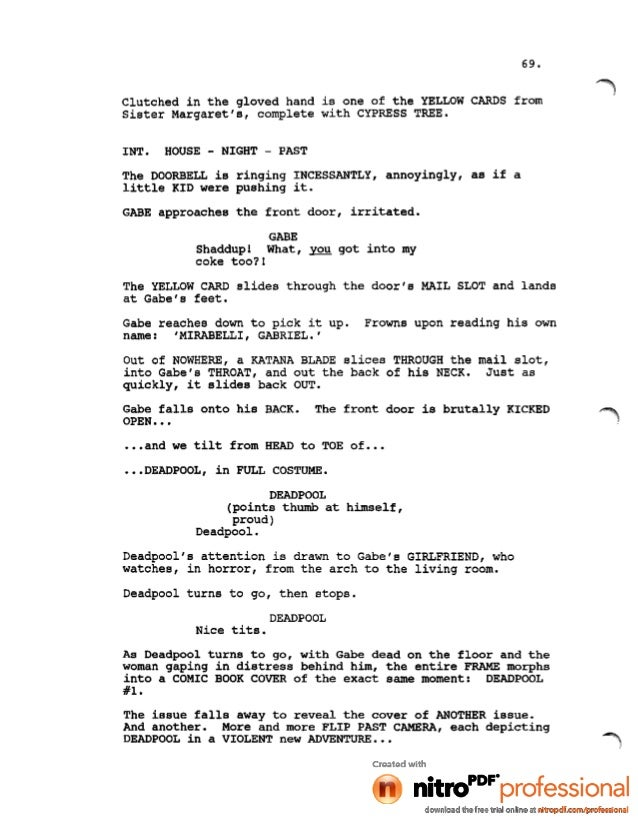 house of cards script pdf