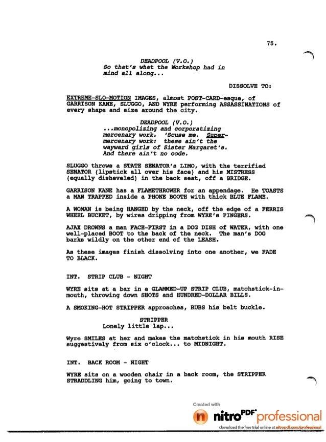 Deadpool movie leaked script (1)