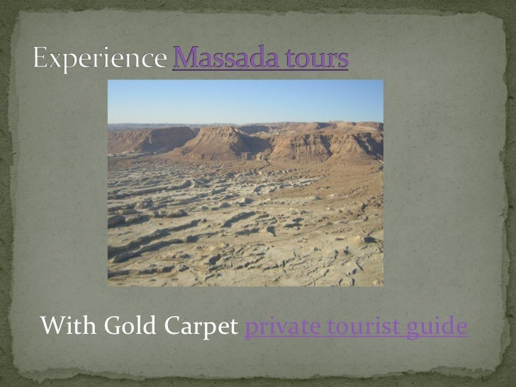 Travel The Dead Sea with Gol Carpet Slide 2