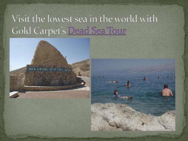 Travel The Dead Sea with Gol Carpet Slide 3