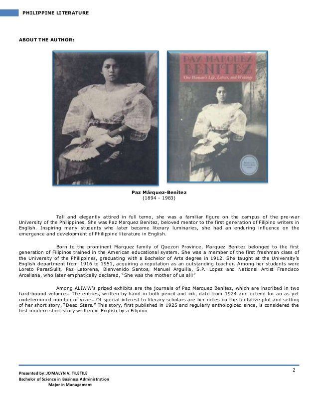 philippine lit 2 View 2 philippine pre-colonial literaturepdf from department 2341 at polytechnic university of the philippines shs 1205: 21st century literature from the philippines and the world nov 17-18.
