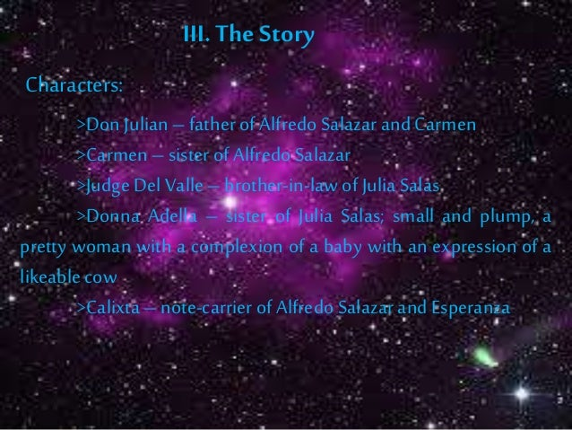 plot of dead stars by paz marquez benitez The short story 'dead stars' was written by paz marquez benitezthe story is about forbidden love,  what is the plot in the story of dead stars.