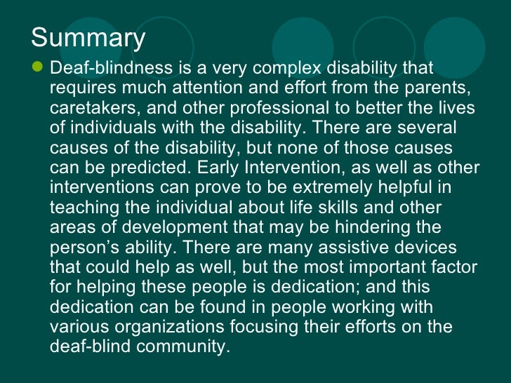Blindness summary