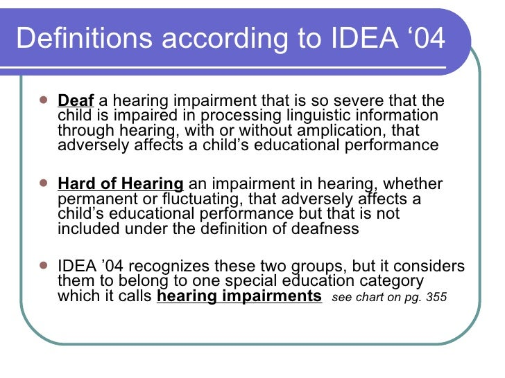 Deaf And Hard Of Hearing Presentation