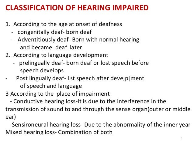 deaf impaired