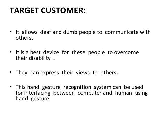 Deaf And Dump Gesture Recognition System