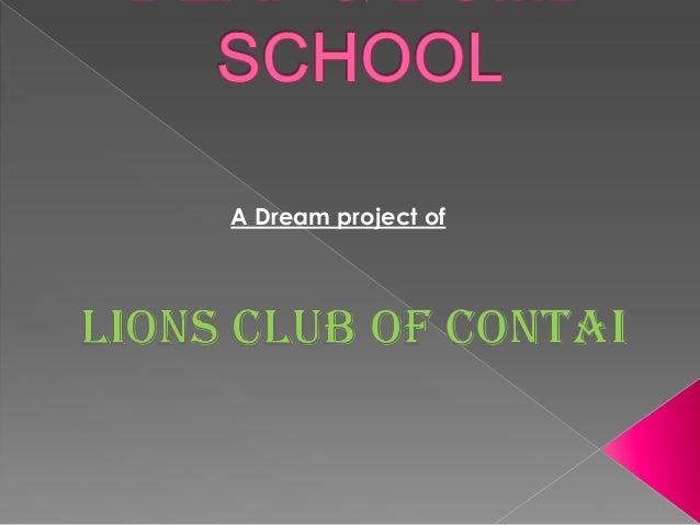 A Dream project of