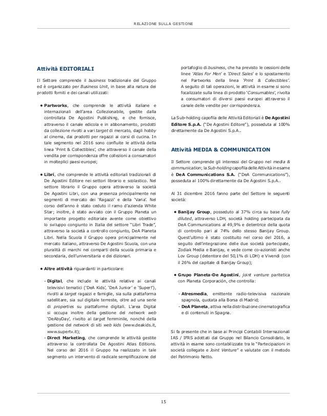 De Agostini S.p.A. Bilancio 2016 Slide 2