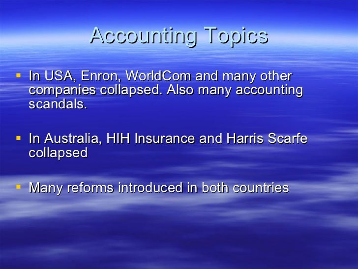 corporate collapses harris scarfe Introduction: a discussion on corporate regulation and governance is of great importance in today's economic world a number of high profile collapses such as hih, one tel, harris scarfe.