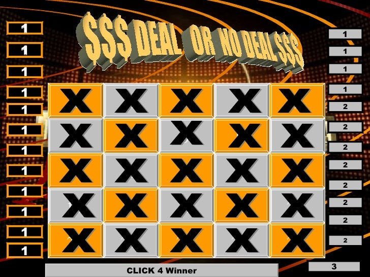 deal or no deal, Modern powerpoint