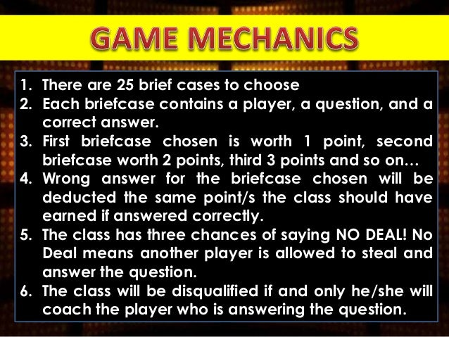 Deal Or No Deal Classroom Game On Subject Verb Agreement