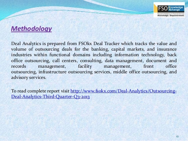 Deal analytic report q3 2013 - Bank middle office functions ...