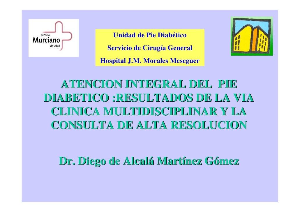 Vía Clínica de Atención Hospitalaria al pie diabético