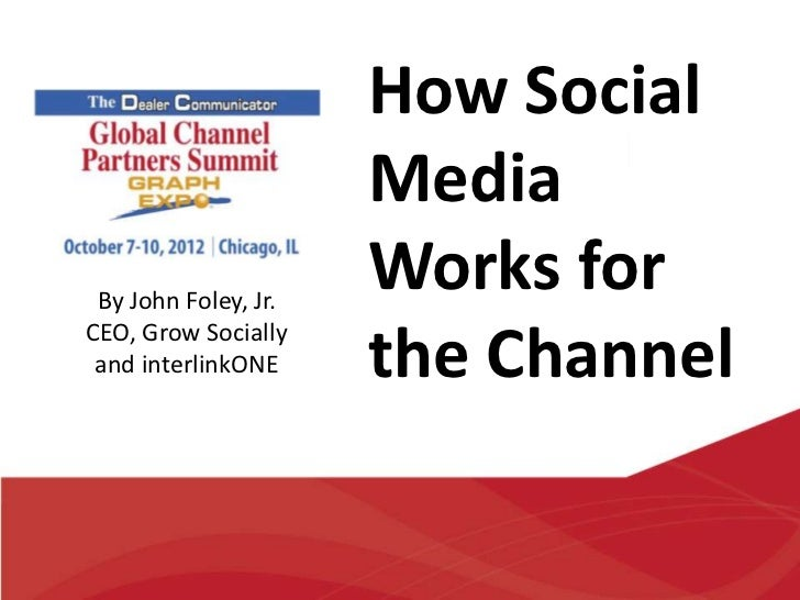 How Social                      Media By John Foley, Jr.                      Works forCEO, Grow Socially and interlinkONE...