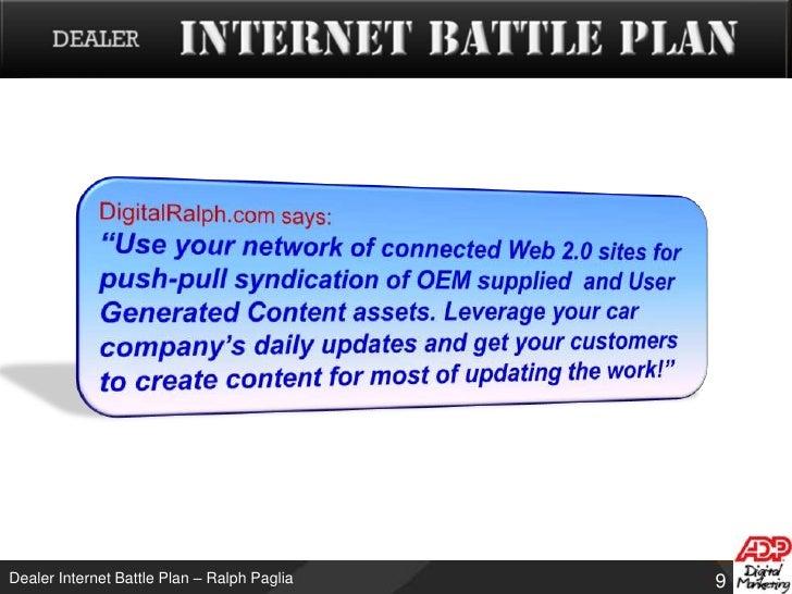 Dealer Internet Battle Plan Web 2 0 Based Guerrilla