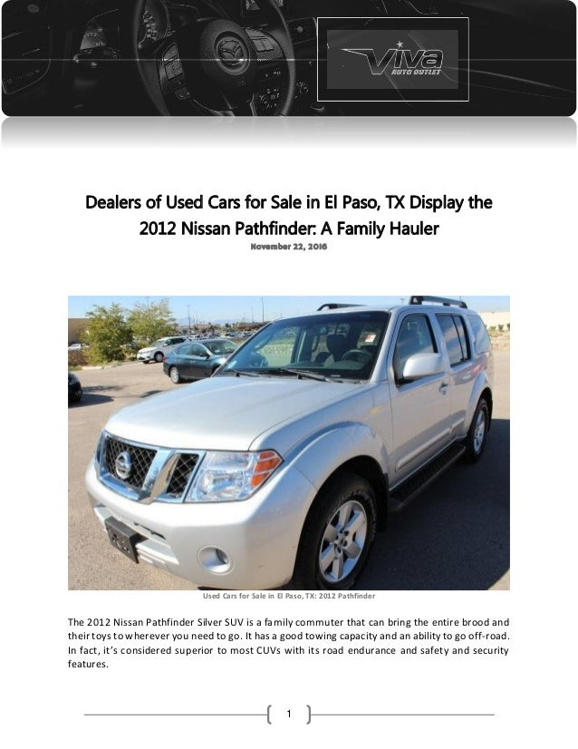 Dealers of used cars for sale in el paso, tx display the 2012 nissan …