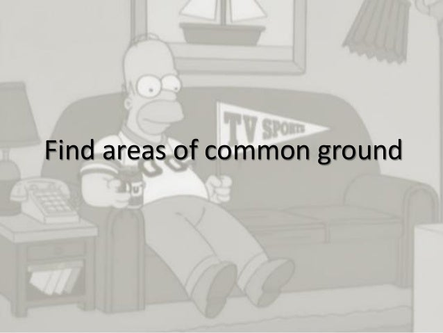 13 Find areas of common ground
