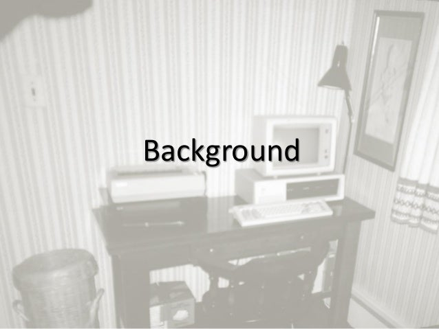 1 Background