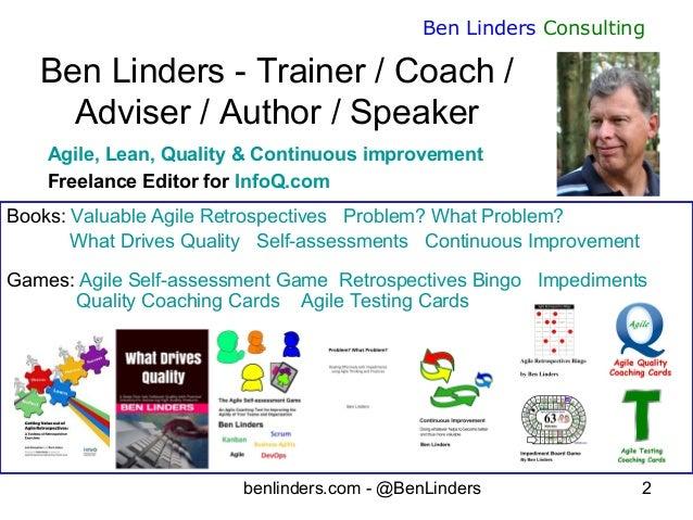 Dealing effectively with impediments - Agile Management Congress 2019 - Ben Linders Slide 2