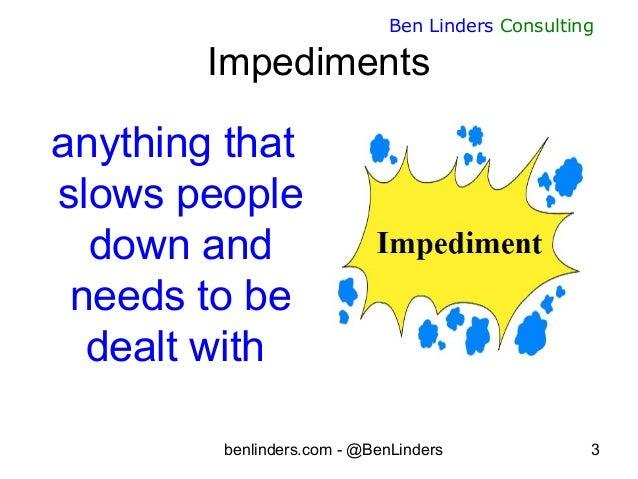 Dealing effectively with impediments - Agile Management Congress 2019 - Ben Linders Slide 3